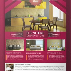 Modern Living Room Furnitures Manly Furniture Flyer Template By Adburst | Graphicriver