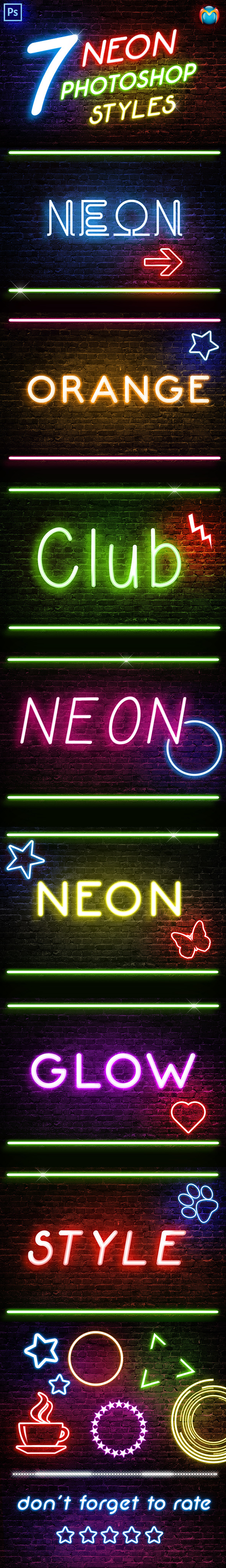 Graphicriver - Neon Photoshop Styles 9956867