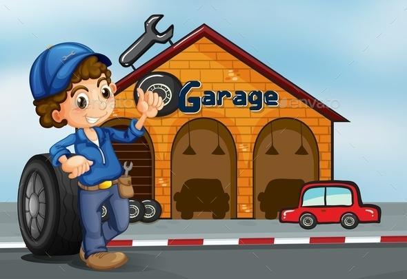 pictogram garage parking