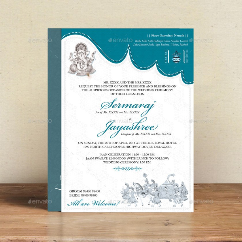 Wedding Invitation Card Psd Template Free