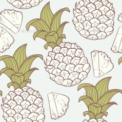 pineapple pattern graphicriver vector silhouette outline