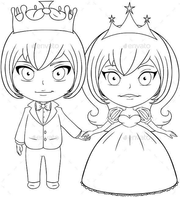 Prince and Princess Coloring Page (People) Download ~ Best