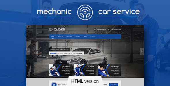 Mechanic – Car Service & Repair Workshop Template – Over