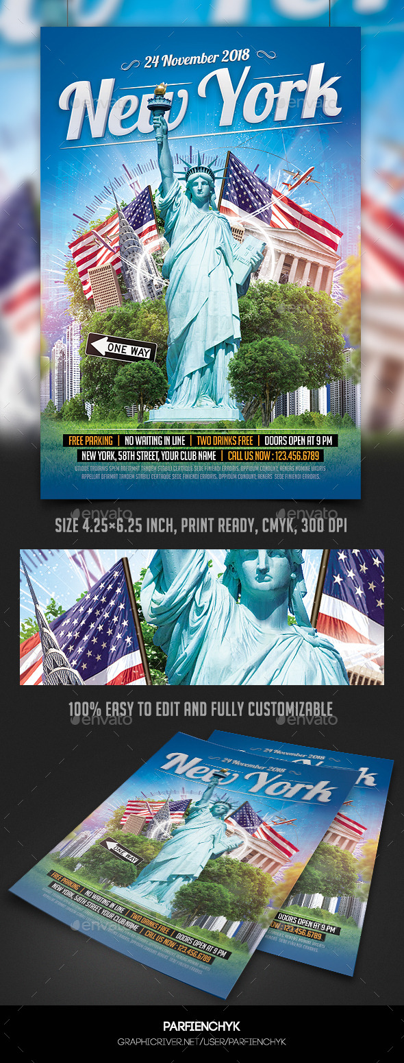 New York Party Flyer Template (Events)