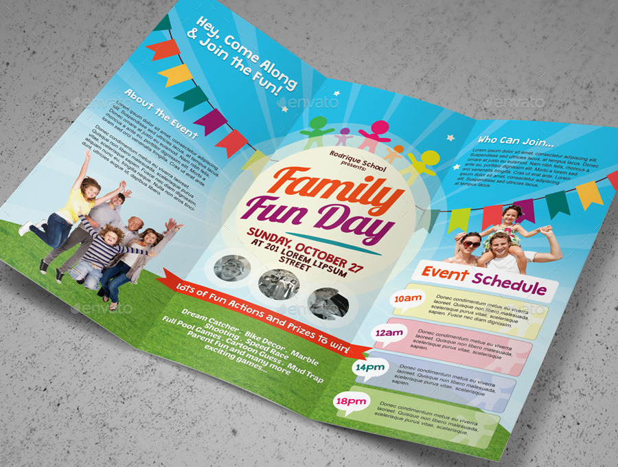 Family Fun Day Trifold Brochures By Kinzishots GraphicRiver