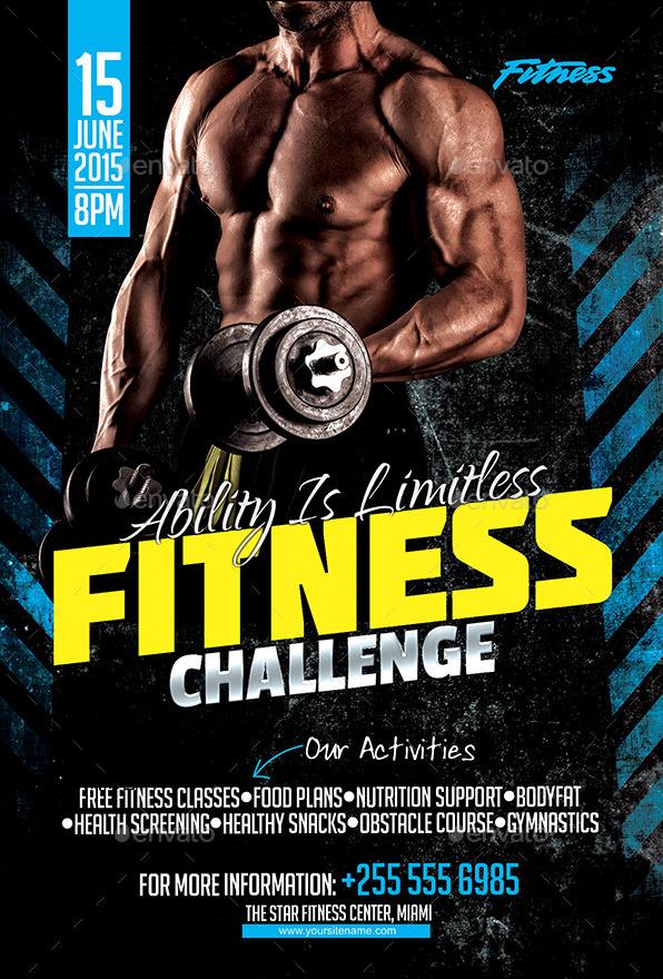 fitness challenge flyer
