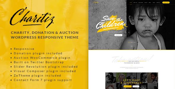 Charitiz - Charity, Donation & Auction WP Theme