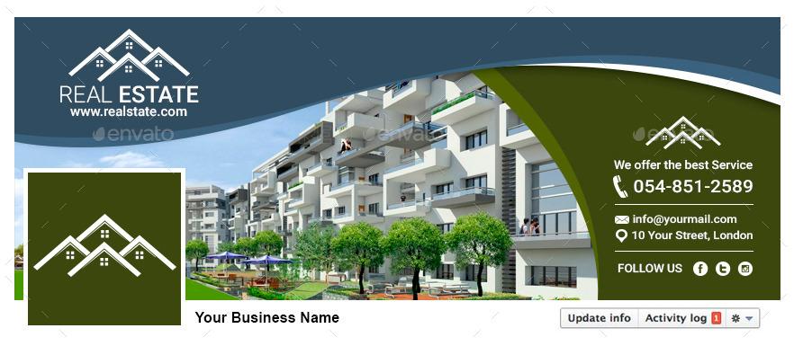 Facebook Timeline Cover  Real Estate by ConectoStudio  GraphicRiver