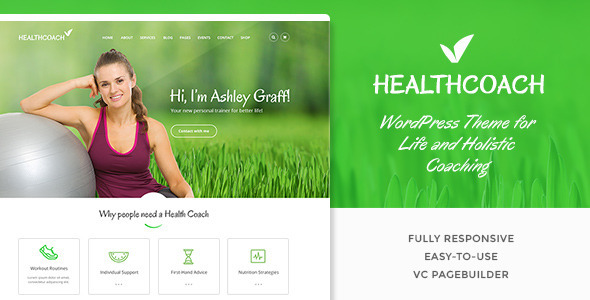 Health Coach Life Coach WordPress Theme For Personal