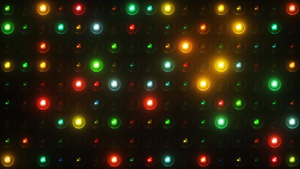 Lights Flashing Wall Motion Graphics Background Vj Loop