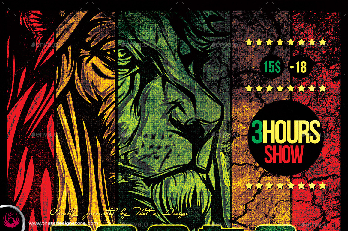 Roots Reggae Flyer Template By Lou606 GraphicRiver