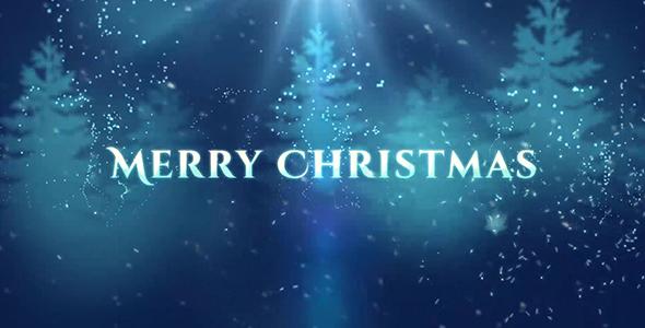 Christmas Greetings Video - Blue & White Theme