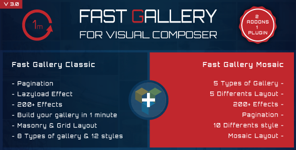 Fast Gallery v3.0 for Visual Composer WordPress Plugin