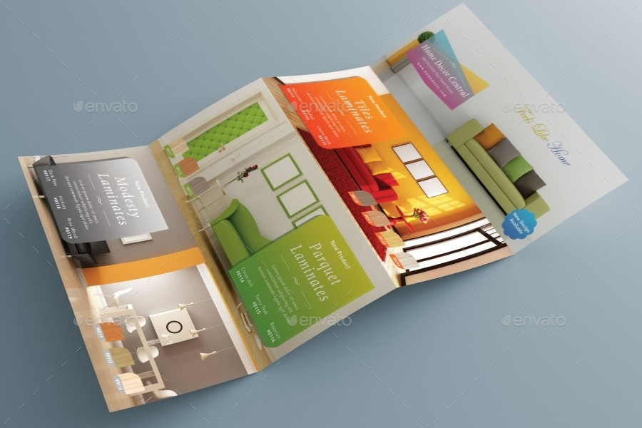 Home Decoration Double Gate Brochure By Arvaone GraphicRiver