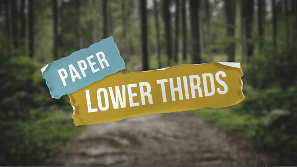Paper Lower Thirds Amp Captions Template Miscellaneous After Effects Templates