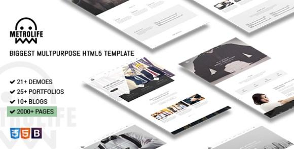Metrolife - Responsive Multipurpose HTML5 Template