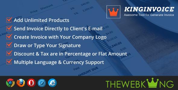KingInvoice Awesome Tool For Generate Invoice Laravel VueJs - Invoice tool