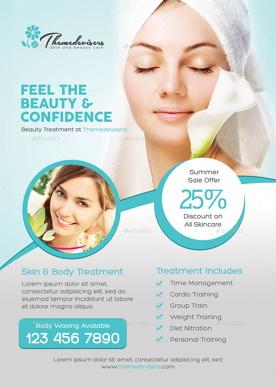 Beauty Care Flyer By Themedevisers GraphicRiver