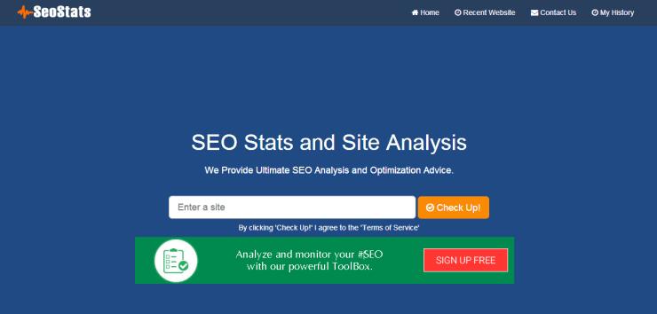 SEO Stats Site PHP Script