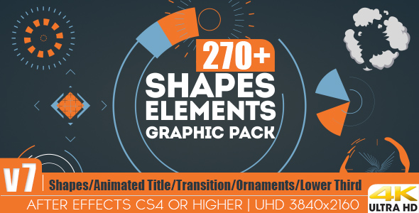 shapes elements graphic pack - after effect project