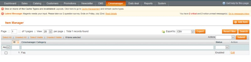 CMS Manager / FAQ Manager - 2