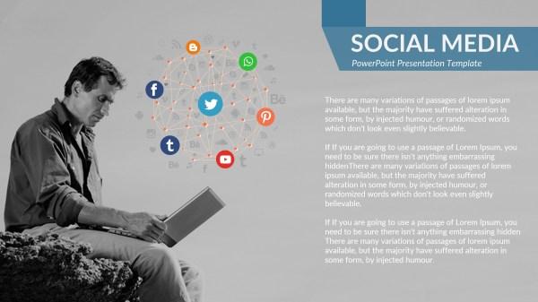 Social Media Business Powerpoint Presentation Template