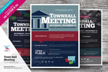 meeting town hall flyer templates graphic river kinzi21
