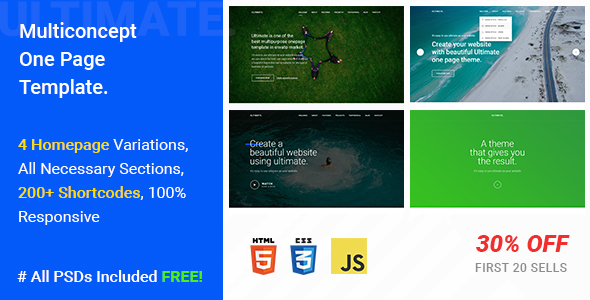 Ultimate - A Mega One Page Responsive Template