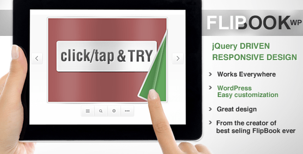 Responsive Flip Book WordPress Plugin - CodeCanyon Item for Sale