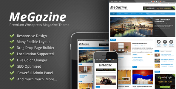 Megazine - Responsive WordPress Theme - ThemeForest Item for Sale