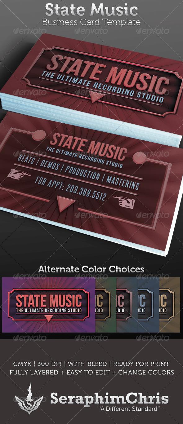 Recording Studio Business Card Template  Creative