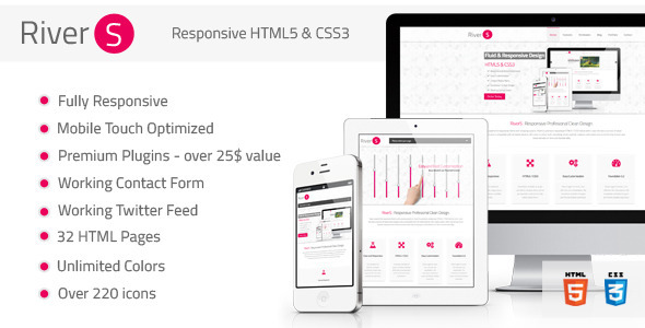 Rivers Responsive Premium Multipurpose HTML5 by FourGraFx