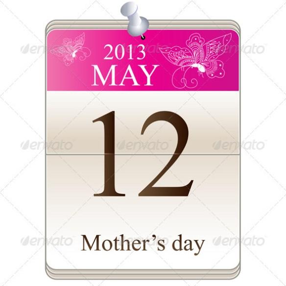 Calendar of mothers day 2013 - Seasons/Holidays Conceptual