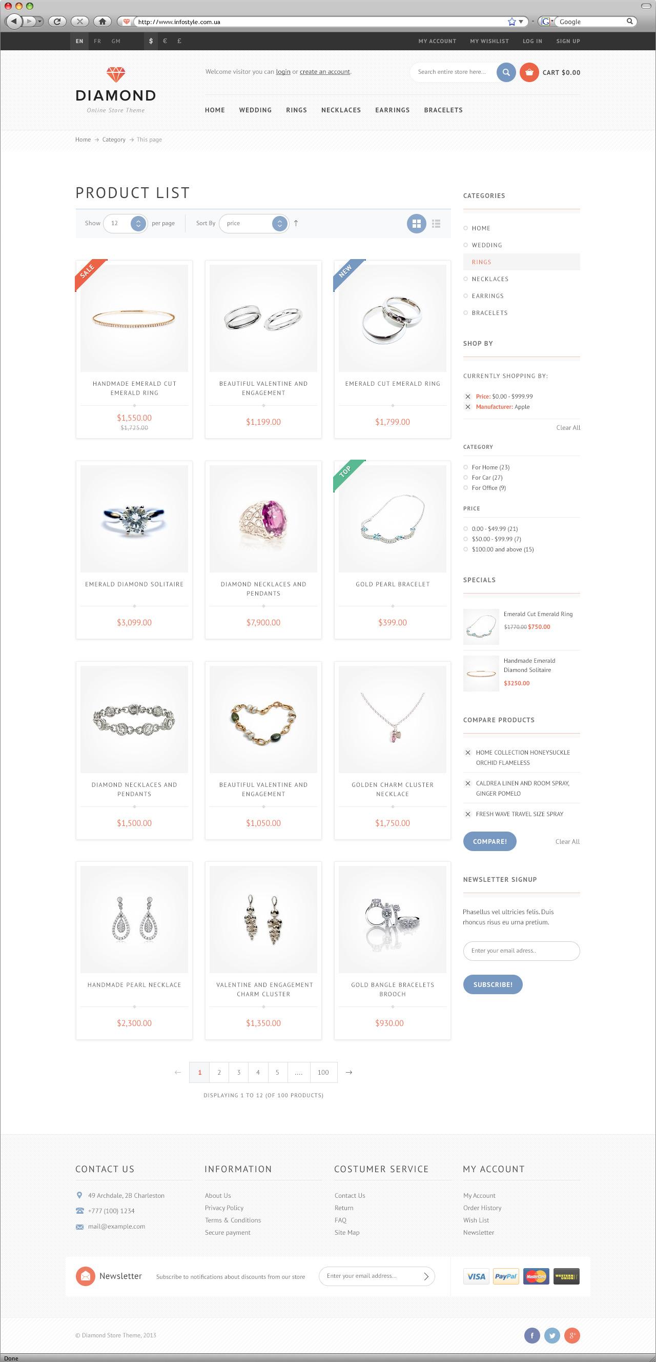 Diamond — HTML5 & CSS3 store template by ItembridgeThemes