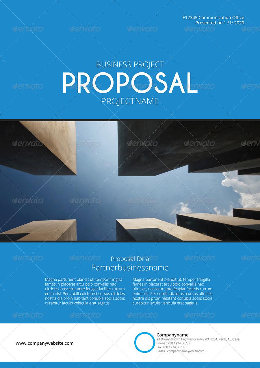 Gstudio Blue Proposal Template By Terusawa GraphicRiver