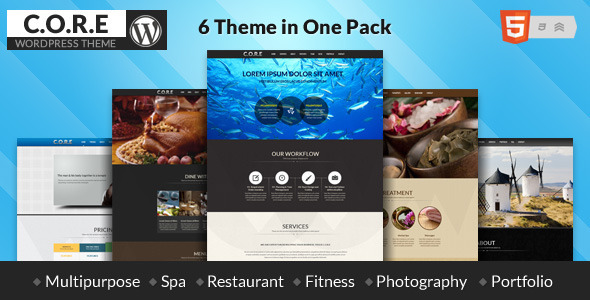 Core - One Page Responsive Theme