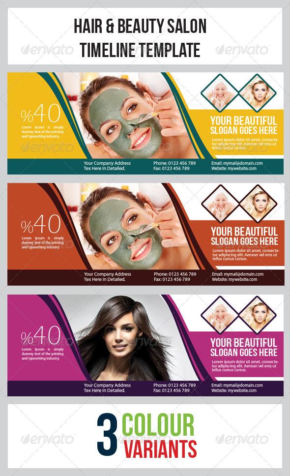 Hair  Beauty Salon Timeline Template  GraphicRiver