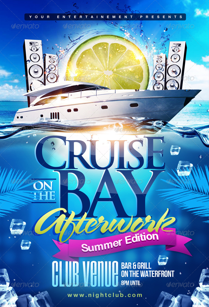 Summer Boat Cruise Party flyer by TheMediaRoom  GraphicRiver