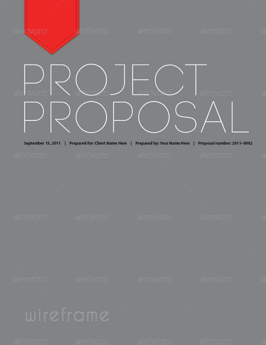 Project Proposal Template Bundle w/ Invoice & Contract by