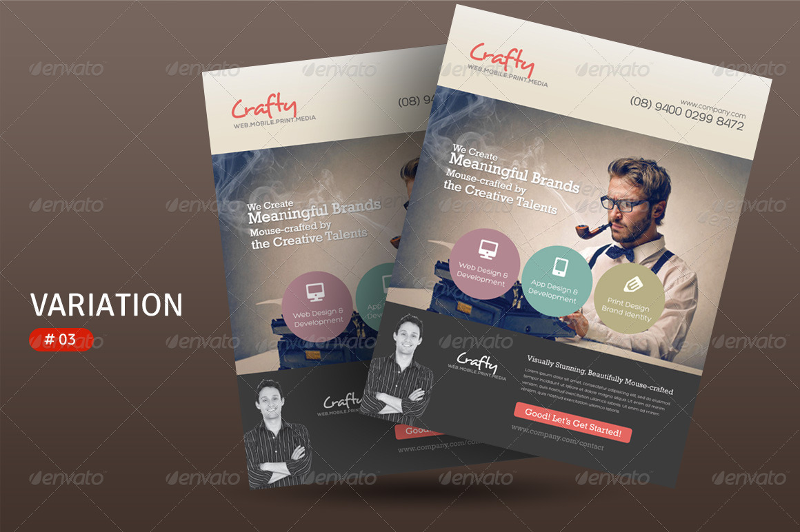 Creative Design Agency Flyers by kinzi21  GraphicRiver