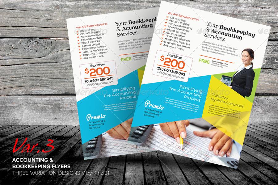 bookkeeping flyers