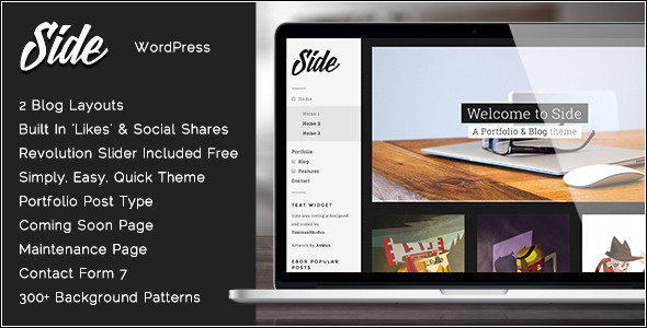 1.  large preview - Side - Full Width Creative WordPress Theme