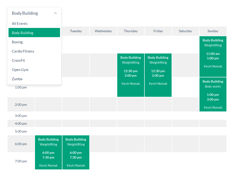 Timetable Responsive Schedule For WordPress by