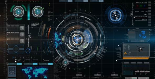 3d Cisco Hd 1920x1080 Wallpaper Futuristic Hud Element With Background By Nataad Videohive