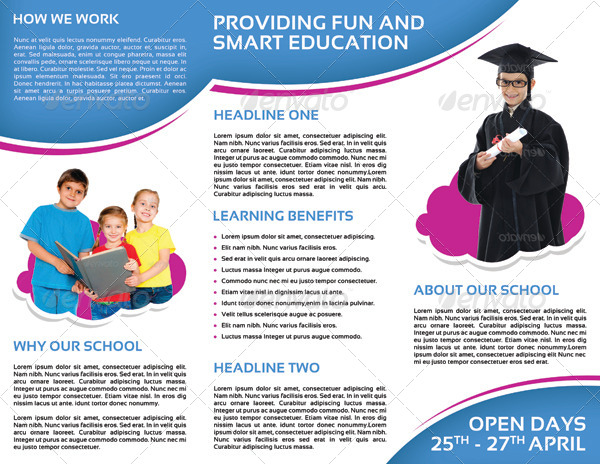 School Promotion Tri Fold Brochure Vol 1 By Letsjustdesign