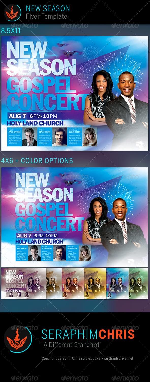 New Season Church Flyer Template Church Flyers