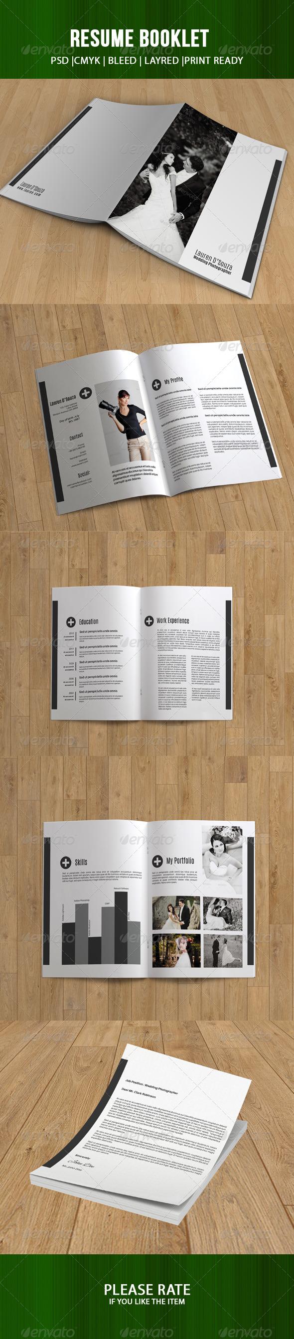 Resume And Portfolio Booklet-V03