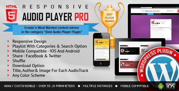 responsive html5 audio player pro wordpress plugin