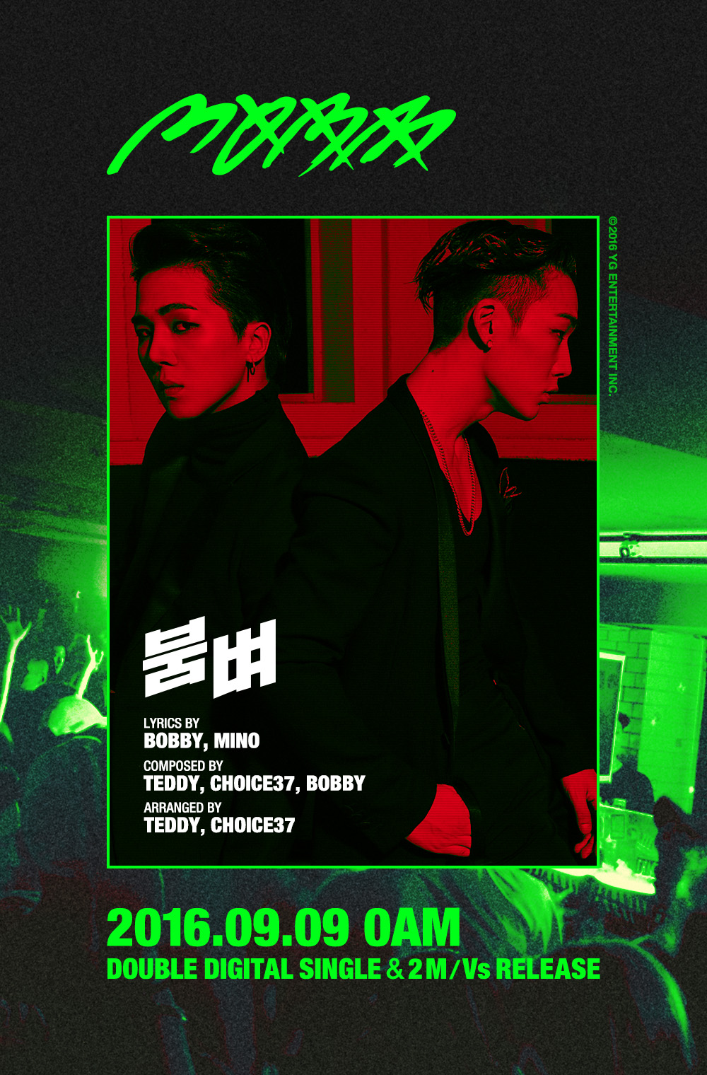 Update: Song Mino And Bobby Tease Unit MOBB Title Tracks