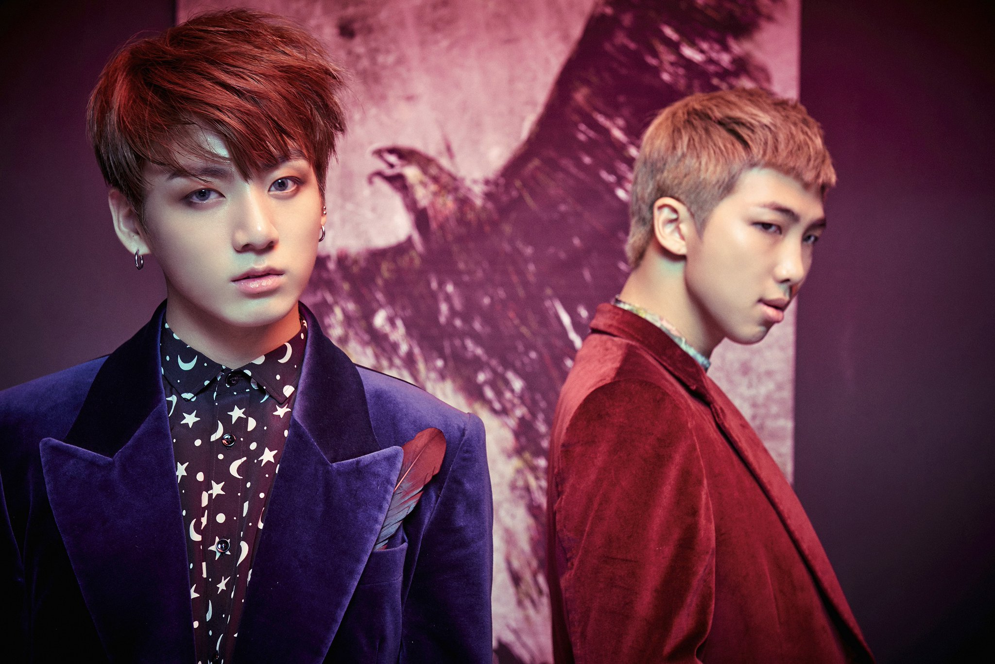"""Bts Shares Concept Photos Of Jungkook And Rap Monster For Return With """"wings""""  Soompi"""